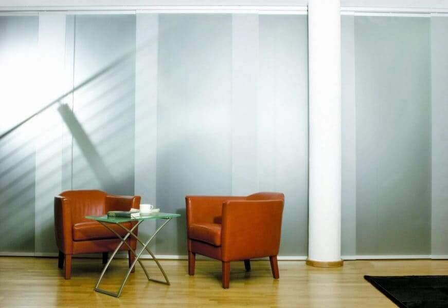 Flächenvorhang als Sichtschutz und Raumteiler